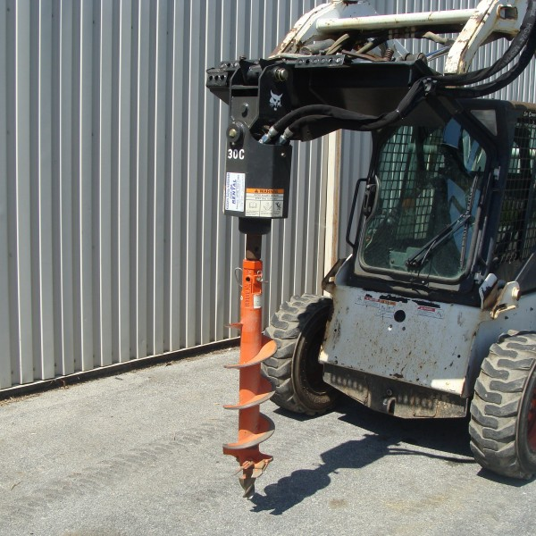 Skidsteer Attachment, Auger (Hex) Image