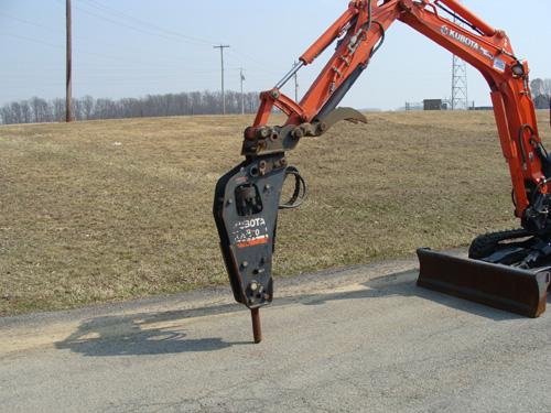 Excavator Demo Hammer for Kubota KX91 Image