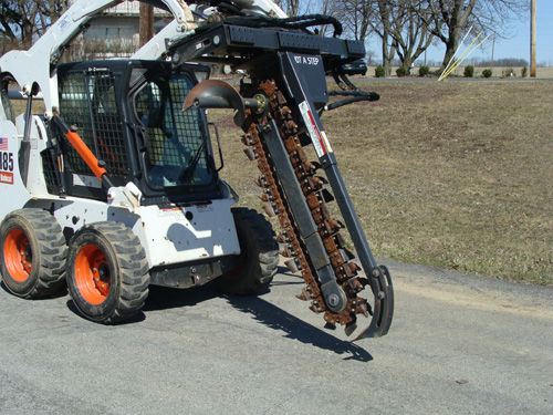 Skidsteer Attachment, Trencher 4 Image