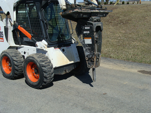 Skidsteer Attachment, Demo Hammer Image