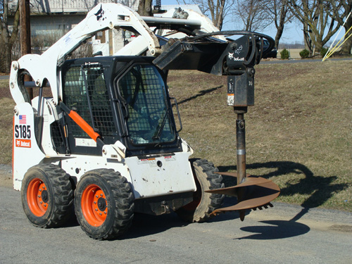 Skidsteer Attachment, Auger (Round) Image