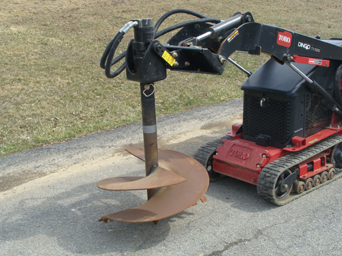 Skidsteer, Mini Dingo Attachment Auger Image