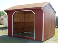 red wood shed